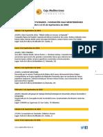Agenda de Actividades Destacadas. Del 1 al 15 de septiembre de 2018