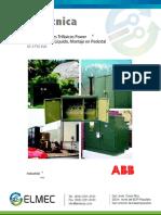 04 Ft Transformador Tipo Pedestal Trifasico ABB Elmec Sa
