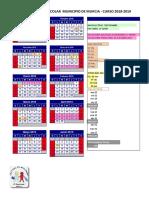 Calendario Escolar 2018 2019