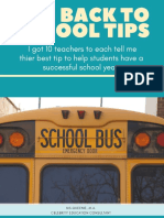 10  back 2 school tips