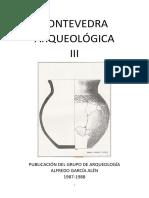 Revista Pontevedra Arqueológica Nº 3.
