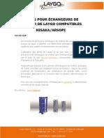 JOINTS POUR ÉCHANGEURS DE CHALEUR DE LAYGO COMPATIBLES HISAKA/ARSOPI