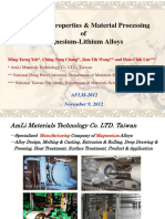 The Mechanical Properties and Applications of Magnesium-Lithium Alloys