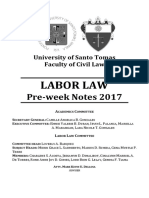 Labor Law 2017 Preweek