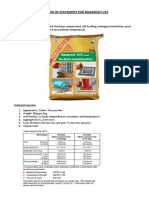 Method of Statement for Sika Grout-215