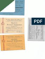bb display tickets 1948 - 1956