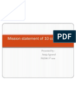 Mission Statement of 10 Companies
