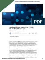 Modbus RTU Versus TCP/IP