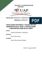 Evolución Histórica y Social de Los Municipios en El Perú