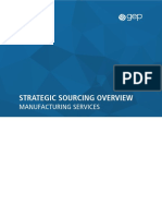 GEP - Strategic Sourcing Overview Manufacturing Services