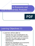 Introduction to Economic and Cost-Effectiveness Analyses