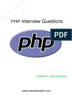 PHP Interview Questions for Freshers 2018