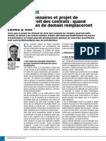 Article Option Droit Et Affaires Pactes d'Actionnaires