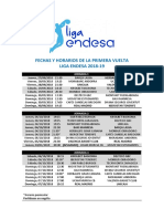 Calendario de La Liga ACB 2018/19