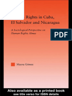 2003, Human Rights in Cuba, El Salvador and Nicaragua – a Sociological Perspective on Human Rights Abuse
