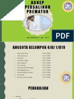 Dl Askep Persalinan Prematur Kel 4 Aj1 b19