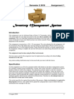 Specification for Inventory Management System