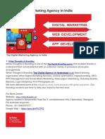 Top 10 Digital Marketing Agency in India