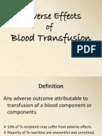 Transfusion RXNs