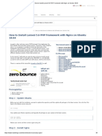 b.10. How to Install Laravel 5.6 PHP Framework With Nginx on Ubuntu 18.04