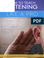 How to Teach Listening Like a Pro