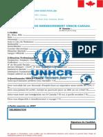 Formulaire de Renseignement Unhcr-canada 2017