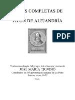 Filon de Alejandria-Obras Completas-Tomo I (Tr Jose Maria Triviño, Buenos Aires, 1976)