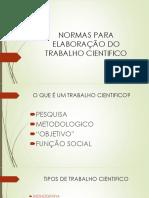 NORMAS PARA ELABORAÇÃO DO TRABALHO CIENTIFICO.pptx