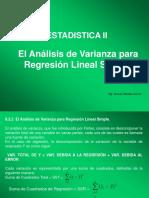 Analisis de v. Para Regresión Lineal Simple