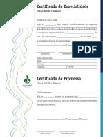 Certificado Padrão R06 Escoteiro