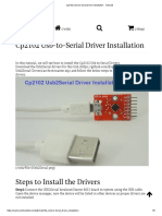 Cp2102 Usb-To-Serial Driver Installation - Tutorials