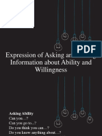 Expression of Asking and Giving Information About Ability