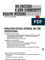 Population Focused Approach and CHN Interventions