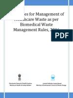 Guidelines Healthcare for Bio Medical Waste Management June 2016