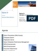 Epicor 9 Spotlight on Technology - Wayne Smart