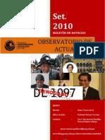 Boletín mensual de noticias - Setiembre '10