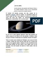 Saturno, el planeta de los anillos.docx