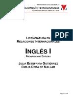 Programa Ingles UCASAL
