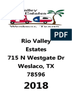 Rio Valley Estates Winter Texan Club Directory