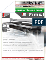 Asistencia tecnica Fimal Paoloni Servicio Tecnico
