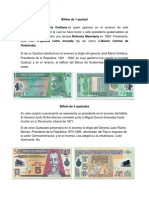 Billetes Que Existen en Guatemala