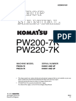 Komatsu PW200-7K Hydraulic Excavator Service Repair Manual SNK40001 and up.pdf