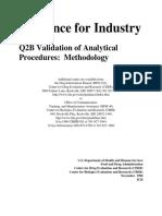 Validation of Analytical Procedures Methodology