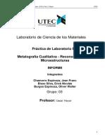 Metalografía Cualitativa - Reconocimiento de Microestructuras