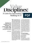 Modelo de Discplinas de Valor