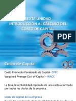 Dirección Financiera Unidad6 Costo de Capital