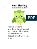 pre-k prayers