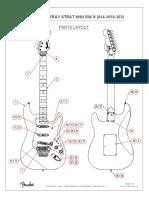 Fender Dave Murray Stratocaster HHH diagrama