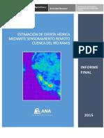 Informe Final Estimacion Oferta Hidrica Mediante Sensoramiento Remoto-cuenca Ramis