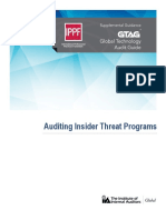 GTAG Auditing Insider Threat Programs